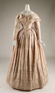 Dress  Date: 1845–46 Culture: European Medium: silk Dimensions: Length at CB: 52 1/4 in. (132.7 cm) Credit Line: Catharine Breyer Van Bomel Foundation Fund, 1981 Accession Number: 1981.210.3