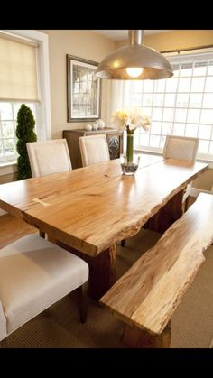 I like the chairs Natural Wood Dining Table 1336d130e