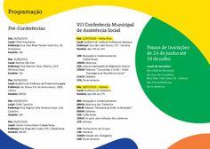 VII Conferência Municipal de Assistência Social - 2015 | Prefeitura de Pindamonhangaba (folder)
