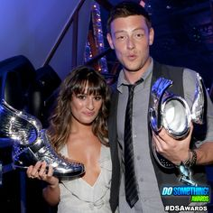 Cory Monteith + Lea Michelle at the @Do Something Awards!