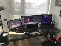 Custom built desk battlestation (200 year old shipwrecked brass for the trim)