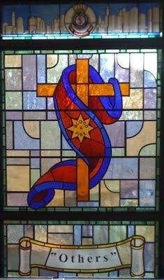 The bright stained-glass window Eastern THQ