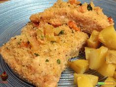 Salmone gratinato con patate  #ricette #food #recipes