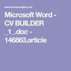 Microsoft Word - CV BUILDER _1_.doc - 146863.article