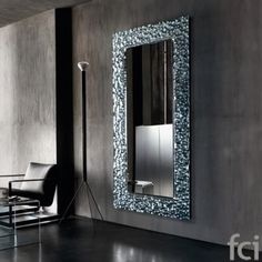 Venus #WallMirror by #FiamItalia starting from £1,100. Showroom open 7 days a week.   #fcilondon #furniture_showroom_london #furniture_stores_london  #fiamitalia_furniture #fiamitalia_mirror #modern_mirror