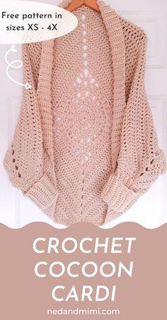 Crochet Cocoon, Bag Crochet, Crochet Woman, Cute Crochet, Crochet Clothes, Crochet Baby, Crotchet, Crochet Cardigan Pattern, Crochet Jacket