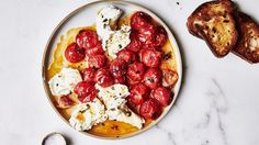 Roasted Tomato Caprese Recipe | Bon Appetit-  For a complete dinner serve with steamed vegetables and a small salad