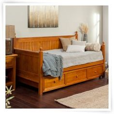 Casey Daybed-Honey Maple