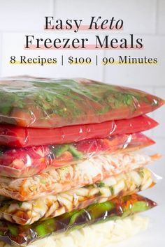 Easy Keto Freezer Meals: 8 recipes, 90 minutes, 100 US dollars. With these delicious recipes, planning keto meals becomes a breeze. Ketogenic Diet Meal Plan, Diet Plan Menu, Diet Meal Plans, Ketogenic Recipes, Low Carb Recipes, Diet Recipes, Healthy Recipes, Delicious Recipes, Freezer Recipes