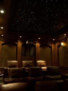 movie room! I LOVE LOVE LOVE the star ceiling!