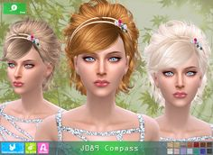 Sims 4 CC's - The Best: Newsea Compass Hair - FREE