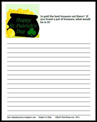 St. Pattys day writing prompt