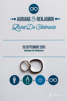 Livret de cérémonie #blueharmony #weddingceremony