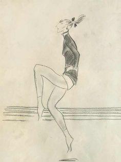 Девушка на разминке. : Сойфертис Л.В.