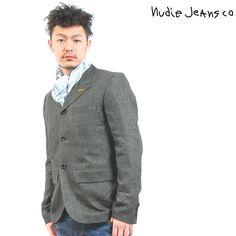 Nudie Jeans(ヌーディージーンズ) テーラードジャケット ブラックウォッシュ【送料無料】 tj-nude-001
