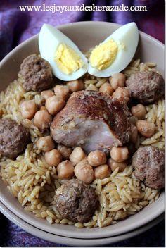 Tlitli sauce blanche, recette algerienne aux langues d'oiseaux