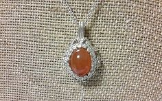 VIintage Silver Pendant and  Yemeni Agate  with chain