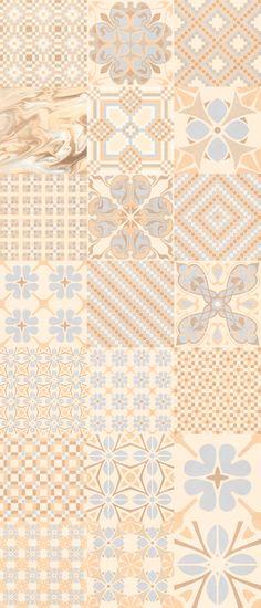 Floor tiles range 1900 in size, is a gres tile with like finish. Floor Patterns, Textile Patterns, Vitromosaico Ideas, Marrakech, Unique Tile, Vintage Tile, Tiles Texture, Handmade Tiles, Style Tile