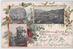 Alte Ansichtskarte Jena mit Lichtenhain Ziegenhain und Pulverturm