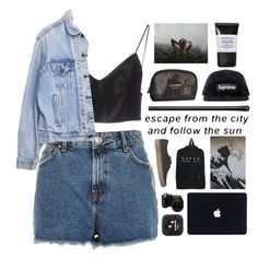 """""""Untitled #2381"""" by tacoxcat ❤ liked on Polyvore featuring Alexander Wang, River Island, Chanel, Smashbox, NARS Cosmetics, Vans, Sony and Levi's"""