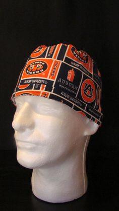 Auburn University Tigers Tie Back Surgical Scrub Hat Cap by TipTopLids on Etsy