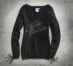 Women's Laced Sleeve Sweater #HDNaughtyList