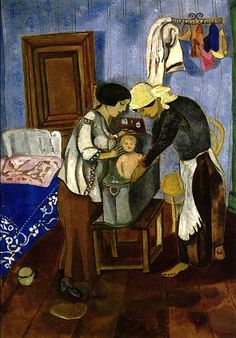 Marc Chagall, Bathing of a Baby on ArtStack #marc-chagall #art