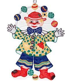 Fensterbild 22x31 cm PLAUENER SPITZE® Clown FASCHING Karneval bunt Spitzenbild in Möbel & Wohnen, Rollos, Gardinen & Vorhänge, Gardinen & Vorhänge | eBay!