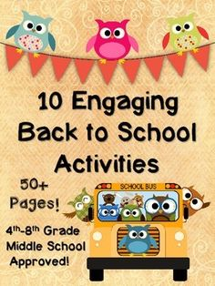 Back to School for Middle School - Student Activities