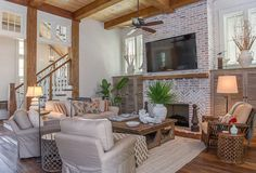 designed by Courtney Dickey and T.S. Adams Studio Home with Exposed Brick and Reclaimed Wood Interiors