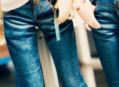 TTYADOLL.COM DOll Handmade Outfit Shop - MSD Washing Real skinny Jean