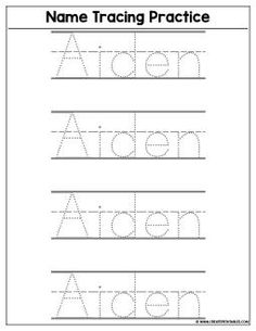 8 best name tracing worksheets images day care preschool rh pinterest com
