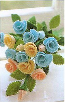 I love the use of pinking shears finishing off these felt roses for added texture