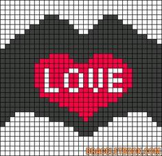 Alpha friendship bracelet pattern added by lovevball. love you heart hands. Crochet Square Patterns, Bead Loom Patterns, Beading Patterns, Cross Stitch Patterns, Cross Stitch Tree, Cross Stitch Heart, Easy Pixel Art, Modele Pixel Art, Pixel Drawing