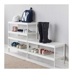 IKEA - MACKAPÄR, Shoe rack, If you need more space for shoes, you can place another shoe rack on top of the first one.