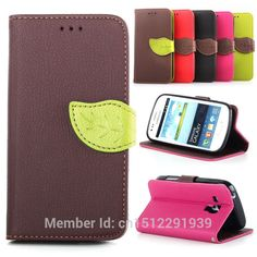 Top Quality Flip Leather Wallet Mobile Phone Back Cover Case For Samsung Galaxy S Duos S7562 7562 Cover With Card Slot