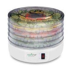 Electric Countertop Food Dehydrator Food Preserver (White)