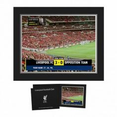 Personalised Liverpool Scoreboard Photo Treat a Reds fan to an exciting unique gift with our personalised scoreboard photo which features the final score between Liverpool and the opposing team of your choice. The recipient scores a hat-tri http://www.MightGet.com/may-2017-1/personalised-liverpool-scoreboard-photo.asp