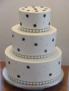 Film Strip and Stars wedding cake