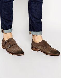 Chaussures par Selected Tige en daim Fermeture par deux brides à boucle Bout rond Semelle plate Traiter avec un agent protecteur pour cuir Tige 100% daim
