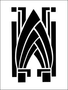 Art Deco stencil from The Stencil Library BUDGET STENCILS range. Buy stencils online. Stencil code MS104.