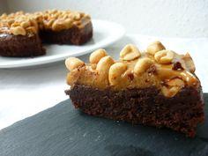 Chokoladekage med dulce de leche og peanuts (snickers kage)