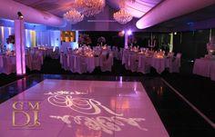 Wedding DJ Brisbane Custom Gobo and Uplighting at Victoria Park Golf Club