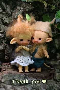 """The first pre-order period is now closed. We would like to thank you all very much for the overwhelming love and support, comments & shares for Charles' Ugly Woodling Trolls """"Aggie Pebbles & Augie BamBam"""" ~Limited Edition Ball-Jointed Dolls"""