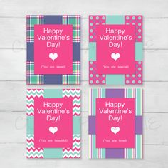 Sweet Sayings Valentine's Cards for Kids by CutiePatootieRoomie