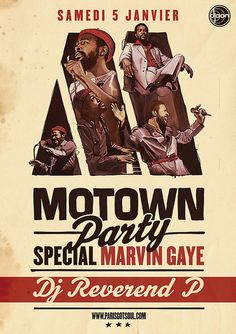 Motown Party Postcard by subgrafik,