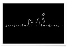 There is a cat in my heart as Premium Poster by Tobe Fonseca | JUNIQE