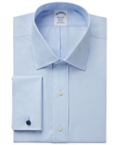 2b07b2d96df72 Brooks Brothers Regent Classic-Fit Non-Iron Solid French Cuff Dress Shirt -  Blue