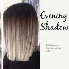 Ash brown to platinum colour melt More