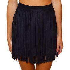 """Shop """"Don't Cringe At Suede & Fringe Skirt"""" on kkbloomboutique.com"""